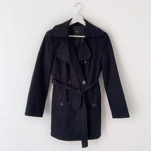 MNG Mango Black Short Winter Coat